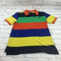 Chaps boy's Polo Shirt color block size XL youth striped cotton Short Sleeve - $13.31