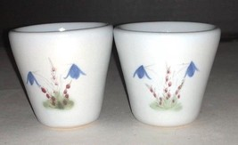 "Thistleware Stoneware Buchan Scotland 2 Tot Tumblers 2 1/8"" EUC Rare - $39.74"
