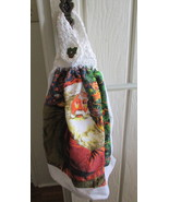 Kitchen Towel with Crocheted Top - Santa - $4.00