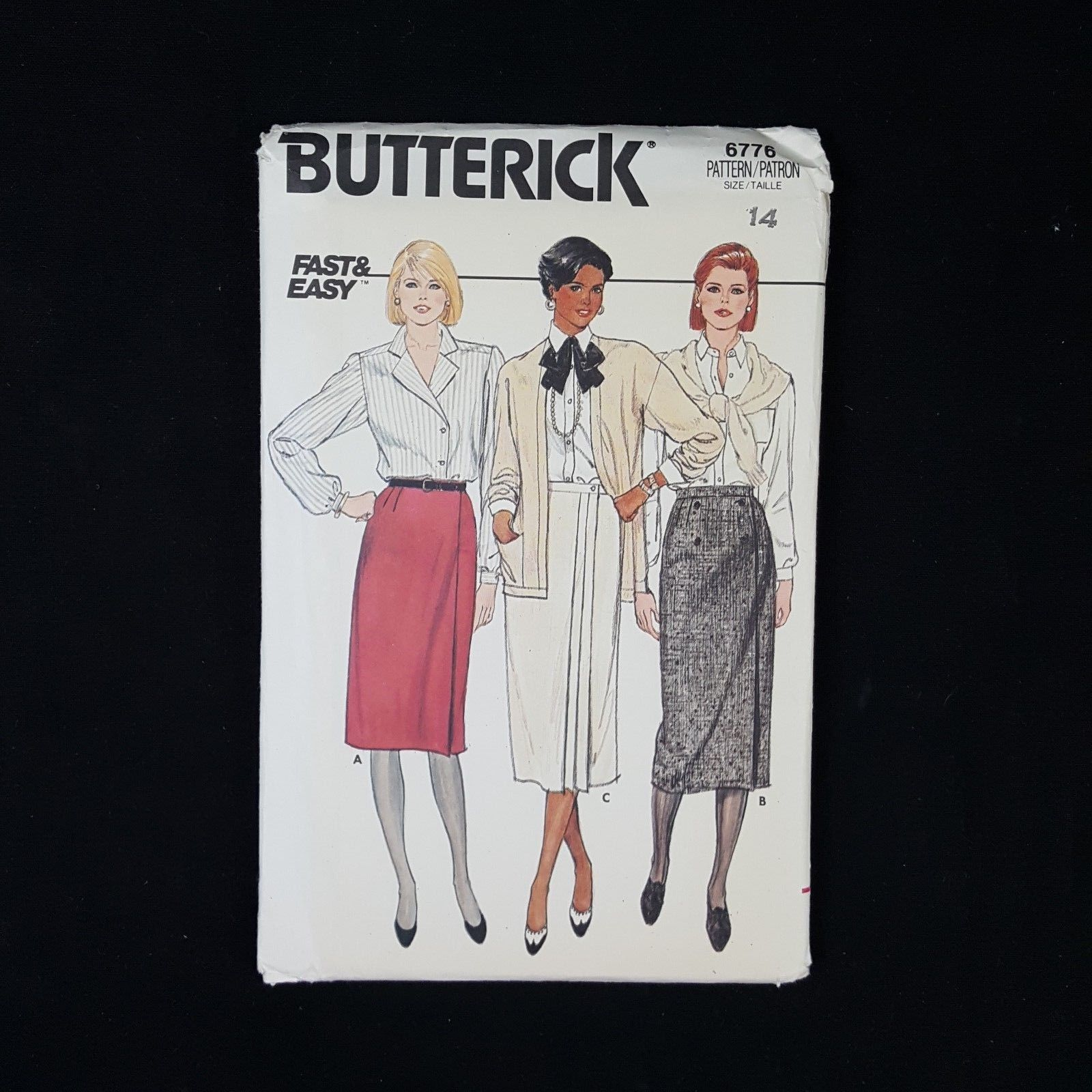 32c8c182744 S l1600. S l1600. Previous. Vintage BUTTERICK Size 14  6776 Sewing Pattern  Women s Misses Skirt 1980 s