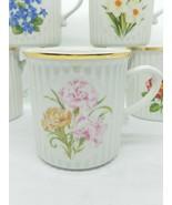 January - CARNATION - 8oz Botanical Floral ORIGINAL BOHEMIA CZECH Coffee... - $6.40