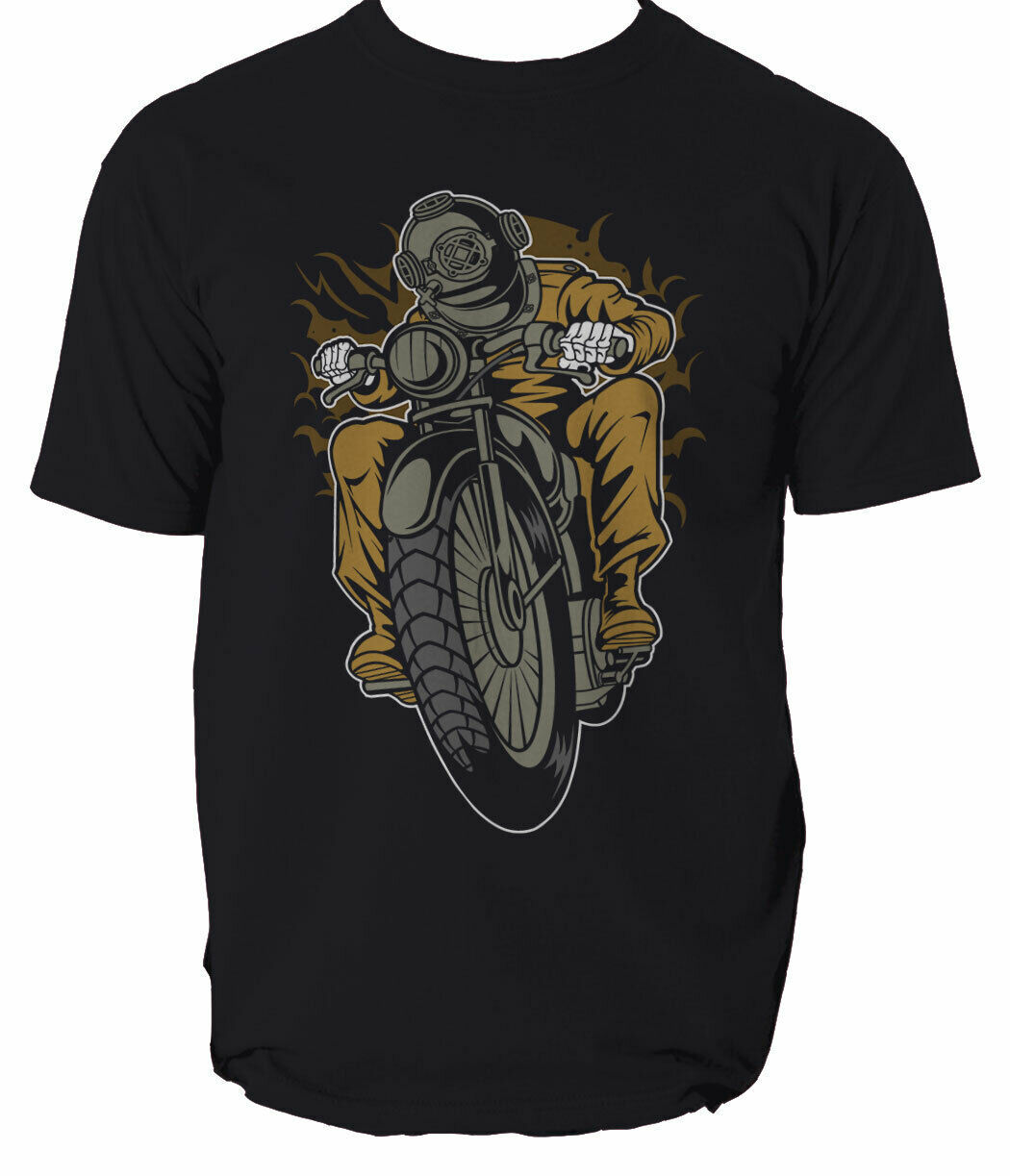 Diver Motorcycle mens t shirt Garage Full Speed Cafe Racer garage motor S-3XL