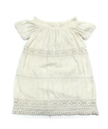 American Eagle Outfitters Womens Small Off White Tiered Tunic Top Croche... - $13.60