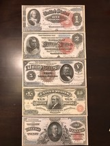 Reproduction Set 1886 Silver Certificates USA Currency Copies - $11.87
