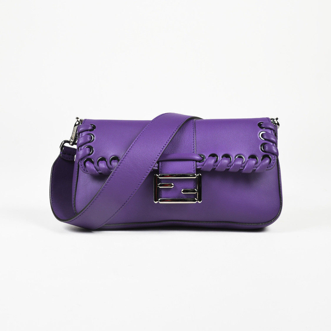 fb40bbd3dde1 Fendi Purple Leather Whipstitch Flap and 50 similar items. S l1600