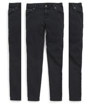 Ralph Lauren Girls' Jemma Tuxedo-Striped Jeans Pants, Black , Size 12,MSRP $59.5 - $24.74