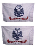 3X5 Army White Flag Double Sided 2 Sided United States Army Flag 200D Usa Ship - $36.00