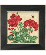 Geranium 2018 Spring Series Buttons and Beads cross stitch kit Mill Hill    - $13.50