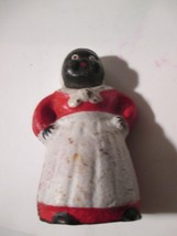 "Black Americana Aunt Jemima Cast Iron Bank Miniature 3 1/4"" tall - $19.79"