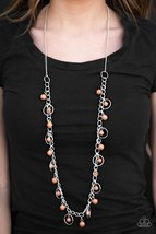 Wolf Creek - Brown Necklace - $5.00