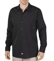 Dickies Men's Industrial Long Sleeve Work Shirt, Black, XXLT, 2X Tall - $18.70