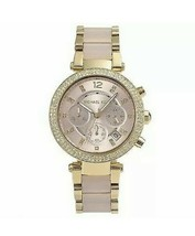 Michael Kors MK6326 Rose Gold Dial Two Tone Chronograph Women's Watch - $90.52