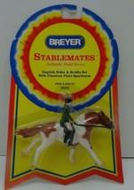 BREYER Stablemates #5203 English Rider & Saddle Set w/ Chestnut Pinto Sp... - $35.00