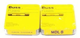 LOT OF (5) NEW COOPER BUSSMANN MDL8 & (5) GMA-500MA FUSES