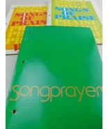 Songs of Praise Vol. 1 & 2 + Song Prayers Sheet Music Book LOT - $24.49