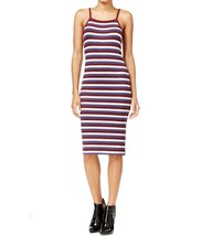 Kensie Women's Ribbed Striped Bodycon Sheath Dress XL Burgundy Blue $79 - $27.89