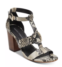 Marc Fisher Walinda T-Strap Sandals Taffy Snake 8.5M - $79.99