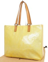 Authentic LOUIS VUITTON Columbus Silver (Yellow) Vernis Tote Bag #38448 - $247.50