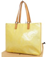 Authentic LOUIS VUITTON Columbus Silver (Yellow) Vernis Tote Bag #38448 - £178.91 GBP
