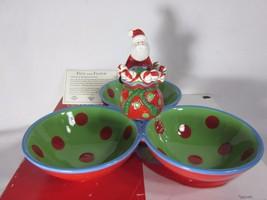 2007 Fitz & Floyd Gourmet Kringle Weihnachten 3 Sektion Server W Zahnsto... - $20.27