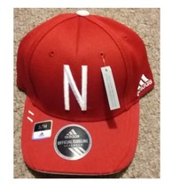 Adidas NCAA College NEBRASKA  Cornhuskers Football Curved Hat Cap Size S/M - $15.00
