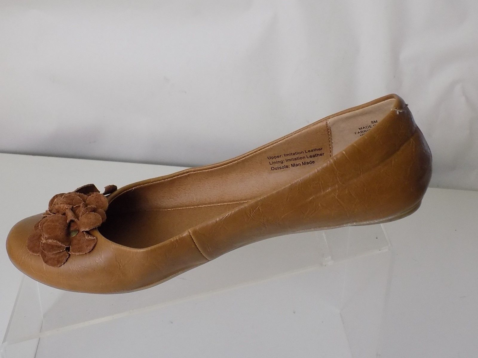 d2329758d05 KENNETH COLE REACTION ALL MAN MADE MATERIALS TAN FLAT SHOES WOMENS SIZE 8 M