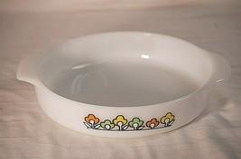 "Fire King 429 Summerfield Flowers Round Deep Cake Pan Dish 9"" Anchor Hocking MCM - $39.59"