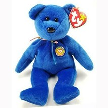 Clubby the Official BBOC Blue Bear Ty Beanie Baby MWMT Retired Collectible - $9.85