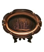 Vintage Metal Chicago Souvenir - Oval Ashtray Plate with Willis Tower, H... - $14.99