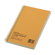 Subject Wirebound Notebook, Narrow Rule, 7 3/4 x 5, Green, 80 Sheets - $19.29