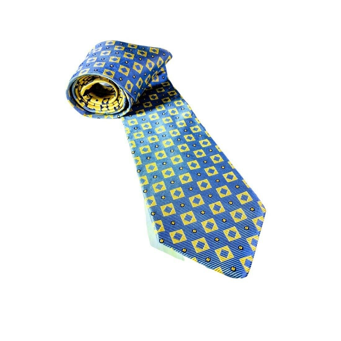 Primary image for Tommy Hilfiger Blue and Yellow Men's Silk Tie