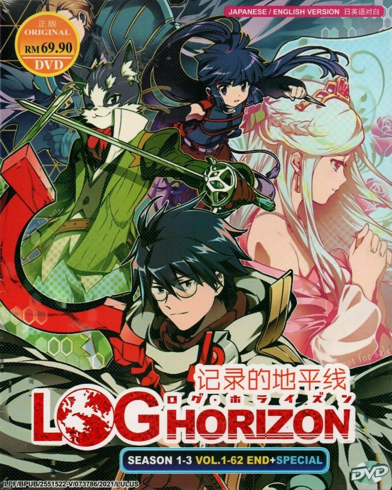 Log Horizon Season 1-3 Vol.1-62 End + Special English Dubbed Ship From USA DVD