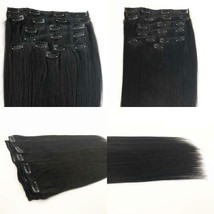 20 Inch Clip In Remy Human Hair Extensions 100G, Stainless Clip On Real Human Ha - $43.31