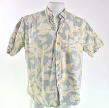 Reyn Spooner Reverse Print XL Pale Green Yellow Hawaiian Aloha Shirt - $28.71