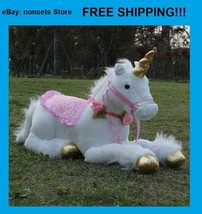 """Soft Giant Plush White Unicorn Jumbo Large Toy Stuffed Animal Doll 33.5"""" / 85cm - $61.61"""