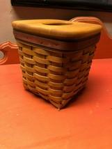 Longaberger 1994 Father's Day Tall Tissue Basket Set Signed w/ original ... - $39.59