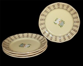 "4 Studio Nova Butter Yellow VILLAGE SQUARE 8-3/4"" Luncheon Salad Plates ... - $28.99"