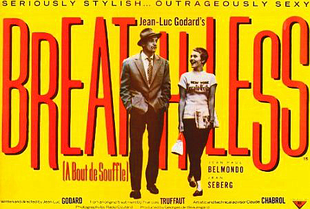 Breathless Movie Poster 27x40 inches Jean Seberg Jean-Luc Godard French New Wave