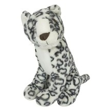 Ace Novelty Snow Leopard Plush Stuffed Animal White Realistic 16 inches - $25.10