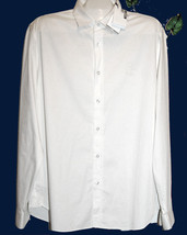 Love Moschino Off White Dress Men's Shirt Size 2XL Fit Small Thin Cotton... - $122.26