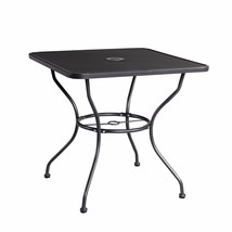 "30"" x 30"" Patio Dining Table Square Powder-coated Steel Frame Top Umbrel... - $69.99"