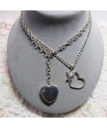 2 PC Lot Sterling Silver Heart Butterfly Pendant Longer Length Necklaces... - $67.32