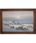 Framed 36x24 BEACH DUNES AT SUNRISE Oil on Canvas PAINTING Artist ADAMSON - $1,485.00