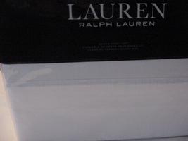 Ralph Lauren Landon Washed Percale White Cotton Sheet Set Queen - $112.00