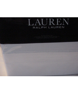Ralph Lauren Landon Washed Percale White Cotton Sheet Set Queen - $112.00
