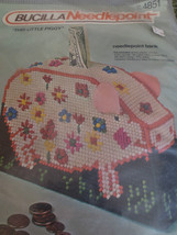 Vintage Bucilla This Little Piggy Needlepoint Bank Kit #4851 - Sealed - $9.90