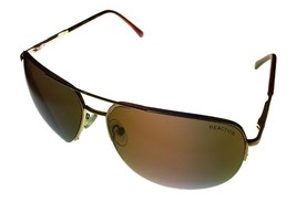 Kenneth Cole Reaction Sunglass Mens Gold Rimless Metal Aviator, KC1098 32E - $17.99