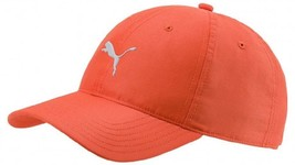 New 2018 PUMA Golf Pounce Adjustable Tech Cap / Orange / Free Puma Hat Clip - $18.67