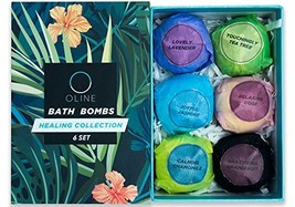 Oline Naturals Bath Bombs Gift Set, Extra Lush & Perfect for Spa & Bubbl... - $14.51