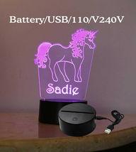 Personalized Unicorn Lamp Night light USB or Wall Plug In image 7